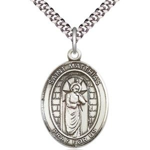 Sterling Silver St Matthias the Apostle Pendant